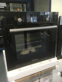 Hoover Black Glass Fan Oven