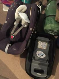 Maxi cosi pebble & isofix familyfix base