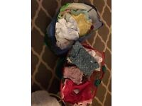 Bundle of newborn and 0/3 baby girl clothes