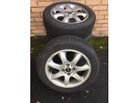 Mini alloy wheels and winter tyres