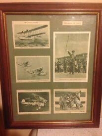 RAF framed postcards
