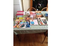 Job lot of knitting and Crochet books and magazines craft