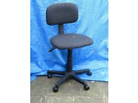 Dark grey swivel office/desk chair on castors with adjustable height and back