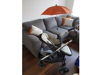 Excellent condition Icandy Strawberry 2 Dune pushchair, carry cot, parasol & raincover