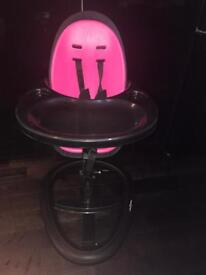 Ickle bubba high chair black/pink