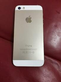 IPhone 5s 32gb unlocked good condition gold colour