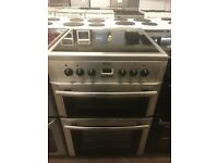60CM STAINLESS STEEL BEKO ELECTRIC COOKER DOUBLE OVEN