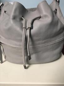 'MINT VELVET' Grey Leather Handbag