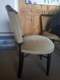 4 cushioned wooden dining chairs good condition for £40