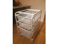 Metal Mesh Storage Drawers - x3 Drawers