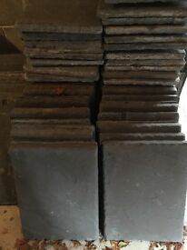 Slate stone paving slabs: 450mm x 600mm