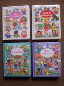 Polish Books - Set of four educational books for kids in Polish