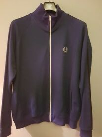 Fred Perry zip top in blue size XL