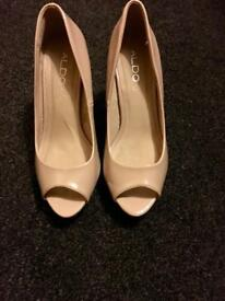 Aldo Nude Peep Toe Sandals