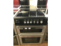 60CM SILVER BLACK FLAVEL ELECTRIC COOKER