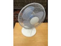 Three speed oscillating desk fan