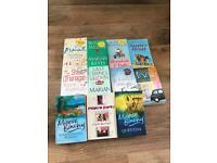 Selection of romantic humour, mystery fiction books