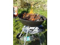 Small BBQ, utensils and cover