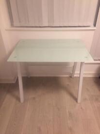 John Lewis glass desk & IKEA office chair