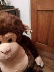 Giant soft toy monkey brand new with tags