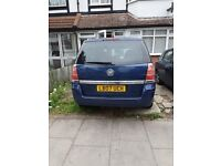 Vauxhall Zafira with full MOT (expires December 2017,sale price £1500, mileage 50415