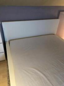 White IKEA double bed