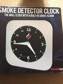 Smoke alarm clock