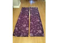 """DUNELM SILKY TYPE CURTAINS SZ 90 by 90"""",excellent condition"""