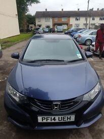 Honda civic 1.7 petrol low mileage excellent condition