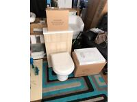 Light wood toilet vanity flush system soft close seat new cost £550 £140