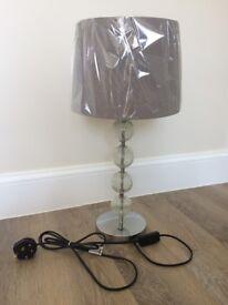 Chrome Crackled Glass Table Lamp