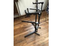 Top end double tier Quik Lok keyboard stand
