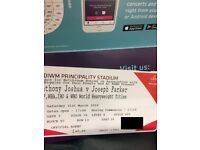 2 X ANTHONY JOSHUA VS JOSEPH PARKER TICKETS