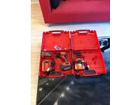 Virtually brand new Hilti impact drill, Comes with 2 charges, 3 sockets and the boxes,£300