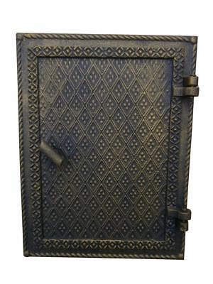 Cast Iron Fire Door Clay Bread Oven Pizza Stove Quality Old Gold (O) 27x 21