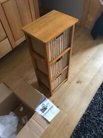 Three drawer storage unit