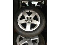 Audi A3 alloyss x4 with tyres