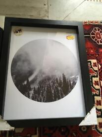 Framed round misty hipster mountains-cape photo
