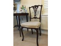 Classic Dark wood dining chairs set of 4