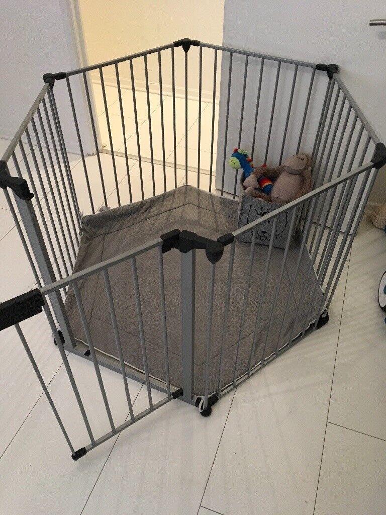 BabyDan Playpen Grey