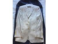 Coe's Cream Linen Suit