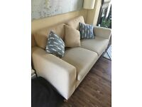 John Lewis, cream, 3 seater sofa