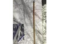 Men's gold plated chain 22 inch