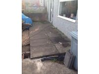 Eight 3x2 concrete paving slabs