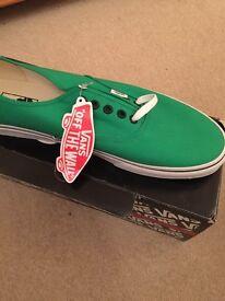 New Vans Shoes Size 12 - Verdant Green