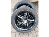 Alloy wheels set of 4 with tyres