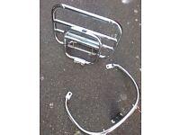 Vespa gts gtv lx rear rack and grab rail (