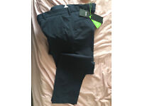 NEW HUGO BOSS MENS ATHLEISURE BLUE TROUSERS X SLIM FIT With Tags