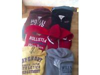 Superdry and hollister hoodies