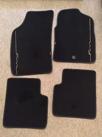 Genuine Fiat 500 Car Mats, Key Cover, Tax Disc/Permit Holder - Excellent Condition